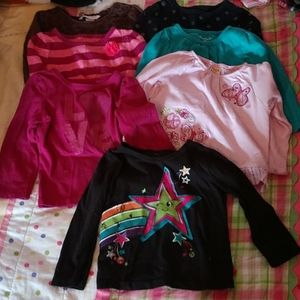 Girls Long sleeve shirts size 18 months